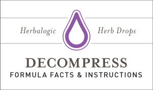 Herbal Supplement Fact Sheet: Herbalogic Decompress Herb Drops | Natural Remedy for Stress-Related Mood Swings and Tension Headaches