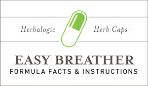 Herbal Supplement Fact Sheet: Herbalogic Easy Breather Herb Capsules | Natural Nose and Sinus Remedy Supports the Immune System Against Cedar Allergies, Pollen Allergies, Mold, Dust and More