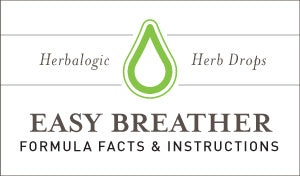 Herbal Supplement Fact Sheet: Herbalogic Easy Breather Herb Drops | Natural Immune Support for Pollen Allergies and Cedar Fever