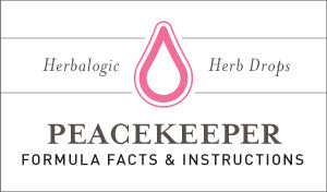 Herbal Supplement Fact Sheet: Peacekeeper Herb Drops | Natural Remedy for PMS and PMDD Mood Swings