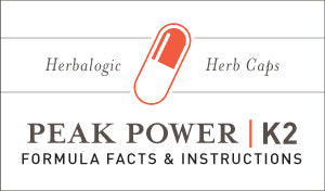 Herbal Supplement Fact Sheet: Peak Power K2 Herb Capsules | Natural Herbs for Energy and Focus - Supports Mental Alertness and Fights Fatigue