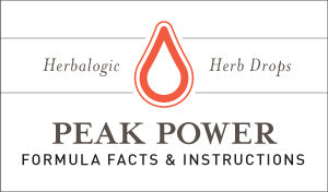 Herbal Supplement Fact Sheet: Peak Power Herb Drops | Natural Herbs for Energy, Stamina, and Performance - May Support Those with Adrenal Fatigue and Chronic Fatigue Syndrome