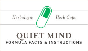 Herbal Supplement Fact Sheet: Herbalogic Quiet Mind Herb Capsules | Natural Remedy Contains Herbs for Anxiety, Racing Thoughts, Nervousness, Panic Attacks, and Restless Worry