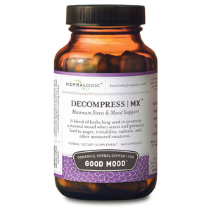 Mood Stabilizer - Natural Herbs for Stress, Anger, PMS, PMDD and Tension Headaches - Decompress Herb Capsules from Herbalogic - 90 ct. Bottle - Natural Stress Relief