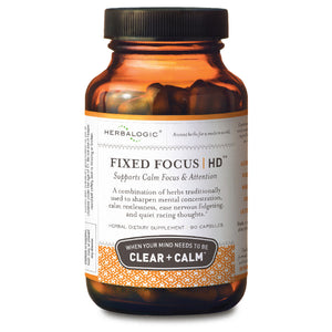 Support for Mental Concentration, Focus, and Calm – Herbal Supplement - Fixed Focus HD Capsules from Herbalogic - 90 ct. Capsules