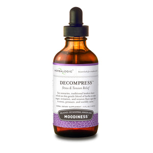 Herbs for Stress Relief and Tension Headaches: Decompress Herb Drops from Herbalogic - 4 oz.