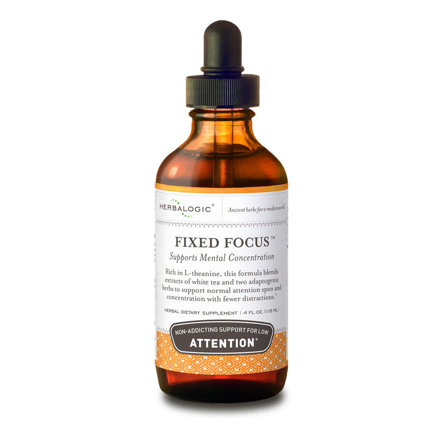 Focus Supplements - Fixed Focus Herbal Tinctures - Herbs for Mental Concentration and Focus