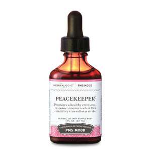 PMS Relief - Herbs for PMS Mood Swings - Peacekeeper Herb Drops from Herbalogic - 1 oz. - Herbal Dietary Supplement for Women