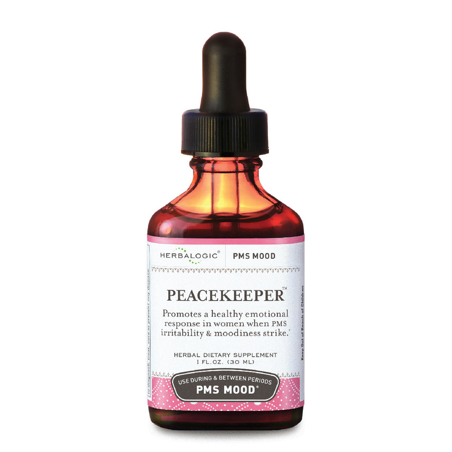 PMS Relief - Peacekeeper from Herbalogic contains natural herbs for PMS mood swings based on herbal traditions.