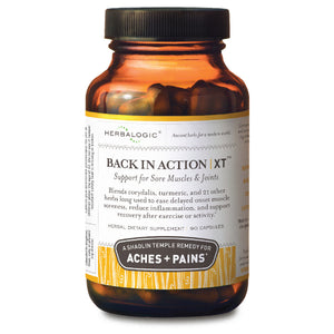 Natural Anti-Inflammatory Formula – Back in Action XT Capsules for Muscle Soreness Relief – Made with Turmeric (a source of Curcumin), Corydalis, and 21 Other Traditional Herbs Combine in This TCM Formula for Inflammation and Pain Support – Back in Action XT from Herbalogic – 90 ct. Capsules – Made with Turmeric (Curcumin) and Corydalis yanhusuo.