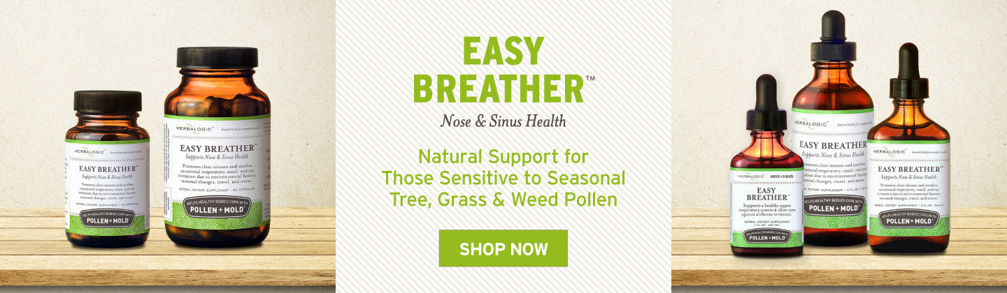 Pollen Allergy Support: Natural Remedies for Pollen and Mold Sufferers - Herbalogic Easy Breather for Nose and Sinus Health