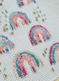 Rainbow Metallic Cross Stitch PDF PATTERN
