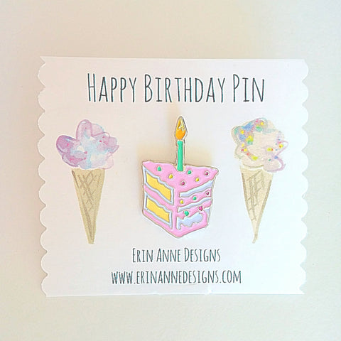 Birthday Cake Lapel Pin