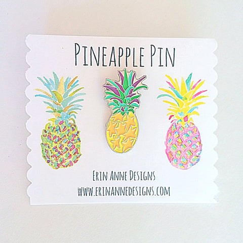 Pineapple Star Lapel Pin