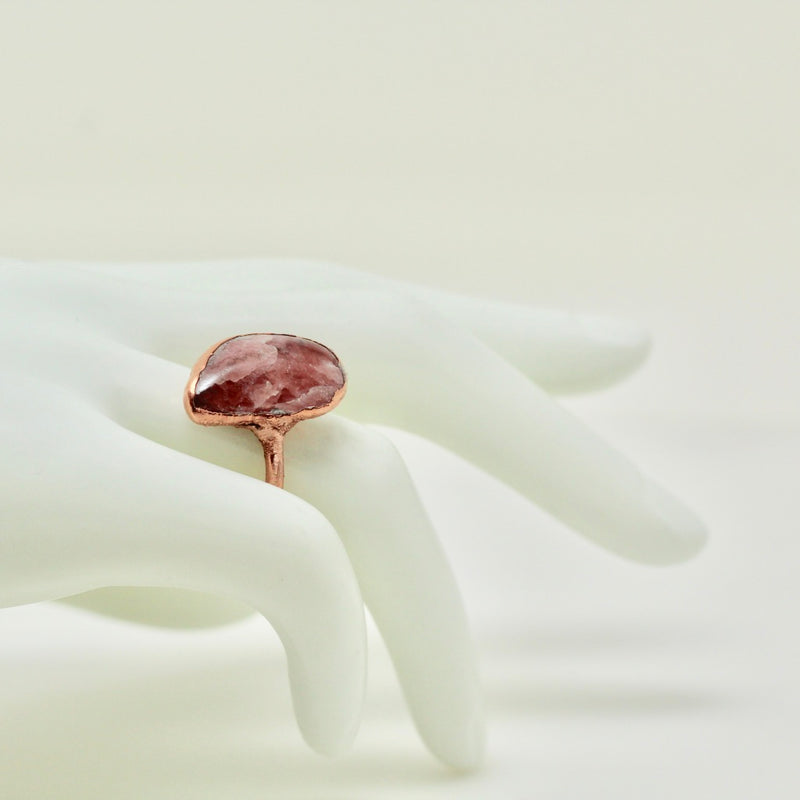 Sunstone Electroformed Ring (Size 8)