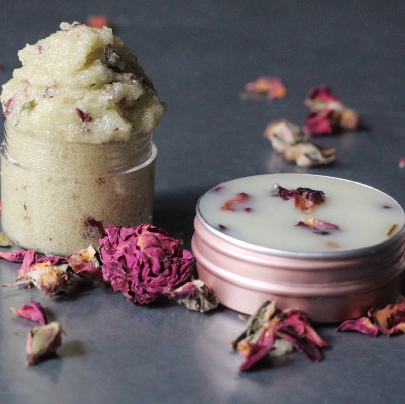 Argan Rose Lip Scrub & Balm