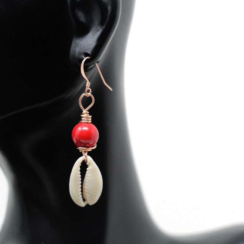 Candy Apple Copper Cowrie (Pair)