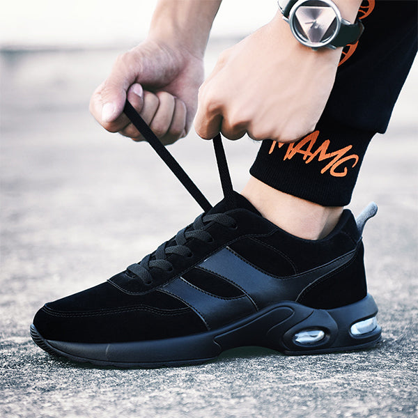 Lightweight Sports Mens Air Cushion Running Shoes-man's shoes-carsoho.com-BLACK-39-carsoho
