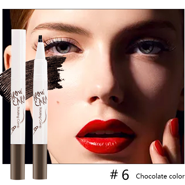 Tattoo Eyebrow Pen with Ten Tips-Beauty-unishouse.com-#6 Chocolate color-Unishouse