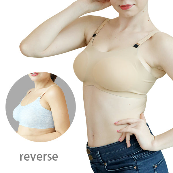 Plus size Reversable Wireless Bra-Clothes & Accessories-carsoho.com-NO PAD-Black-1-carsoho