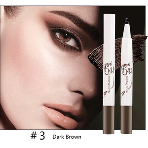 Tattoo Eyebrow Pen with Ten Tips-Beauty-unishouse.com-#3 Dark Brown-Unishouse