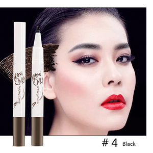 Tattoo Eyebrow Pen with Ten Tips-Beauty-unishouse.com-#4 Black-Unishouse