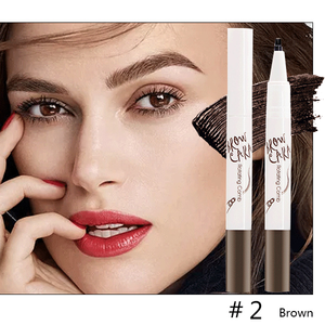 Tattoo Eyebrow Pen with Ten Tips-Beauty-unishouse.com-#2 Brown-Unishouse