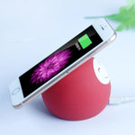 Silicone Smiling Face Wireless Charger-Phone Accessories-carsoho.com-RED-carsoho