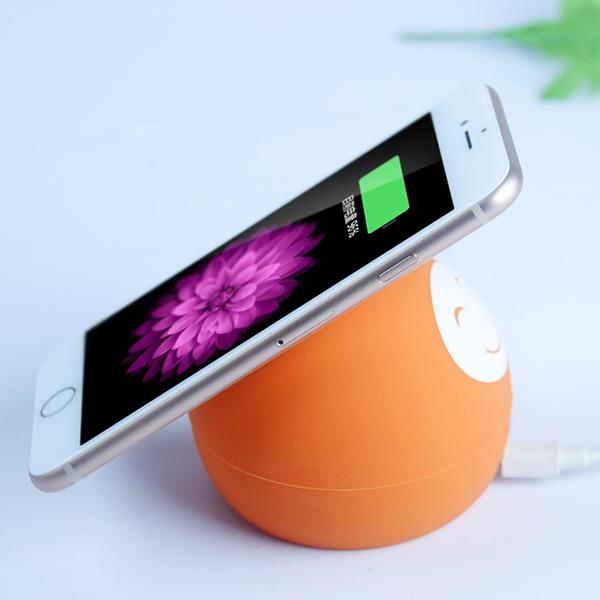 Silicone Smiling Face Wireless Charger-Phone Accessories-carsoho.com-ORANGE-carsoho