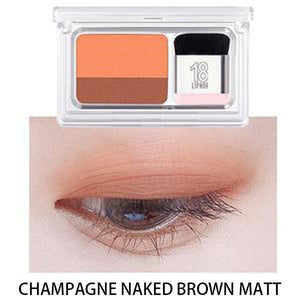 Dual-Color Gradient Eyeshadow-Makeup-Champagne Naked Brown Matt-Romancci.com