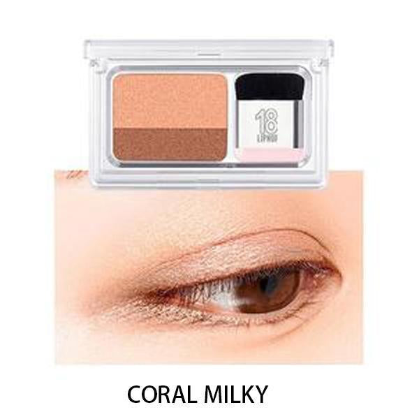 Dual-Color Gradient Eyeshadow-Makeup-Coral Milky-Romancci.com