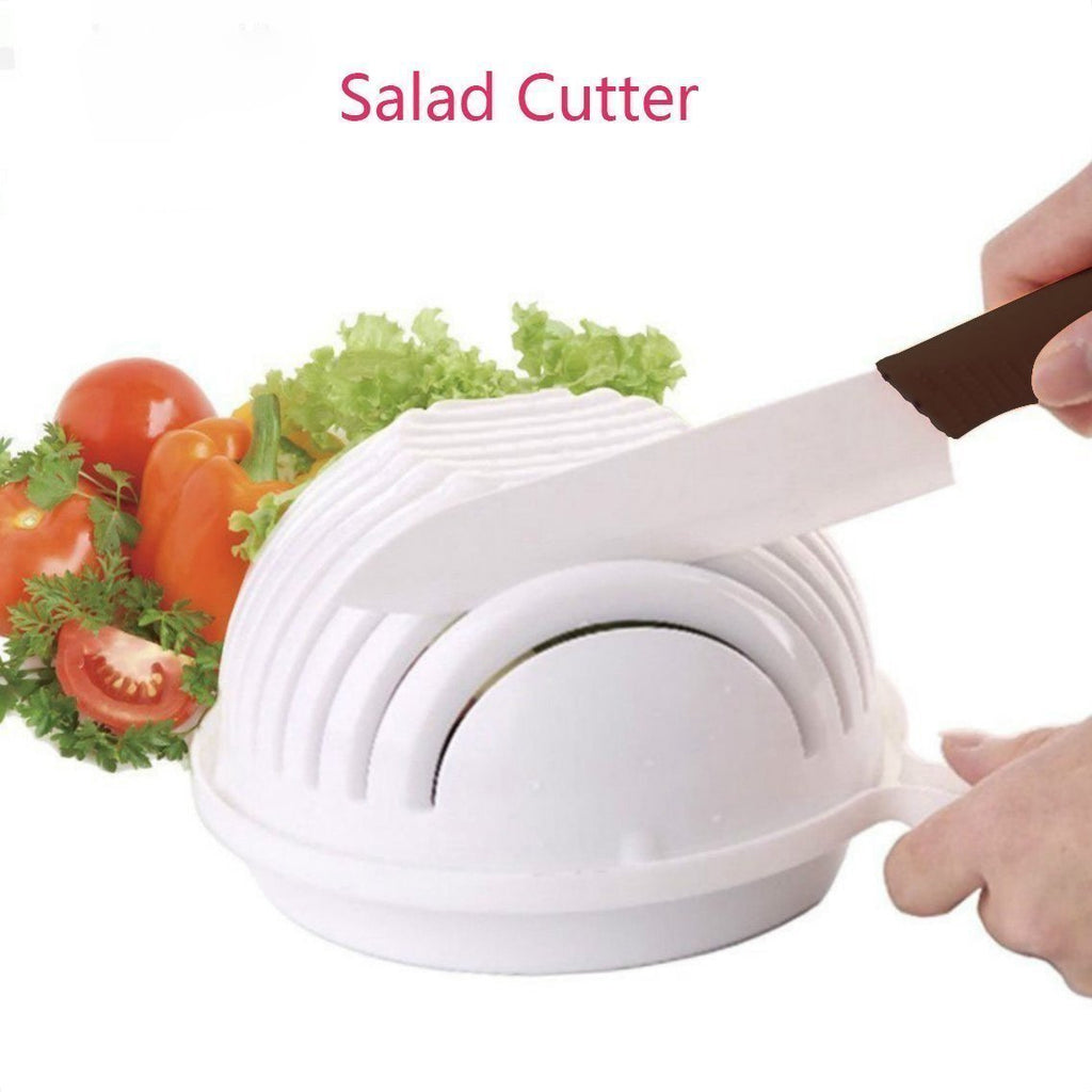 Hot Multi-functional Salad Cutter Bowl-Kitchen Tools & Utensils-White-Romancci.com
