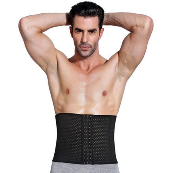 Men's Waist Trainer Girdle Vest-Clothing-Black-M-Belt-Romancci.com
