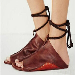 2018 New Women's Fashion Ankle Strap Flat Shoes-women's shoes-carsoho.com-RED-34-carsoho