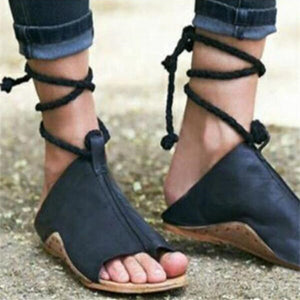 2018 New Women's Fashion Ankle Strap Flat Shoes-women's shoes-carsoho.com-BLACK-34-carsoho
