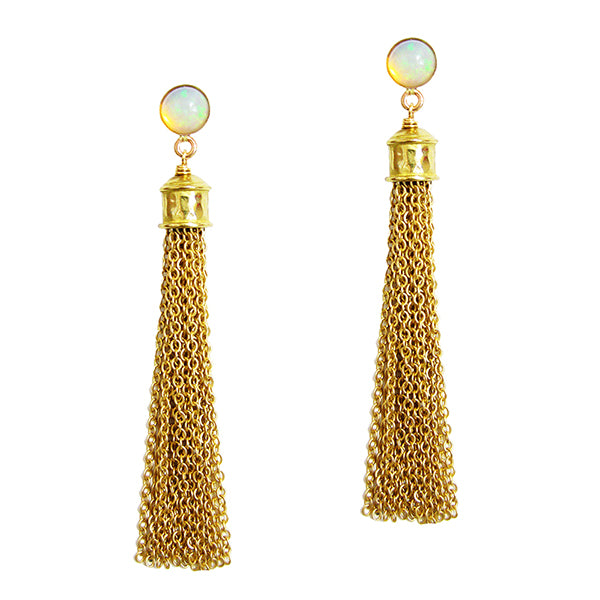 Dionne Opal Tassel Earrings
