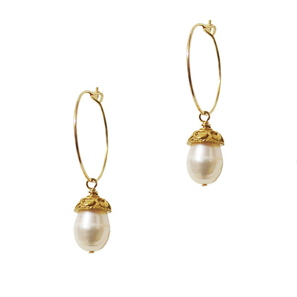 Elodie Pearl Drop Earrings
