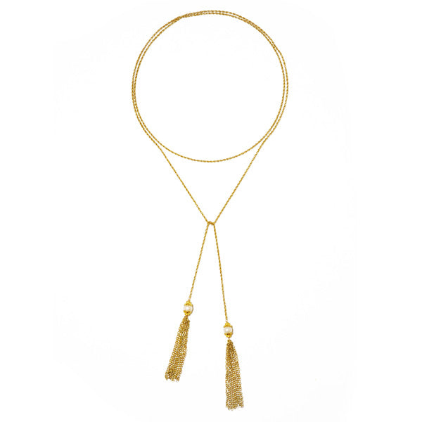 Georgina Pearl Tassel Necklace
