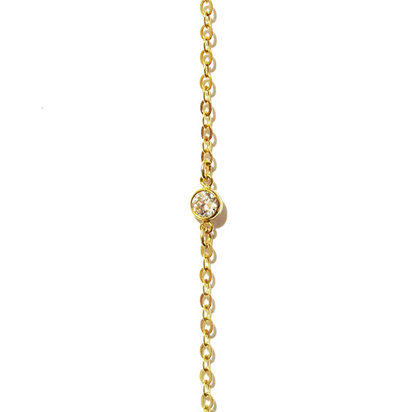 Lila Lariat Crystal Pave Necklace