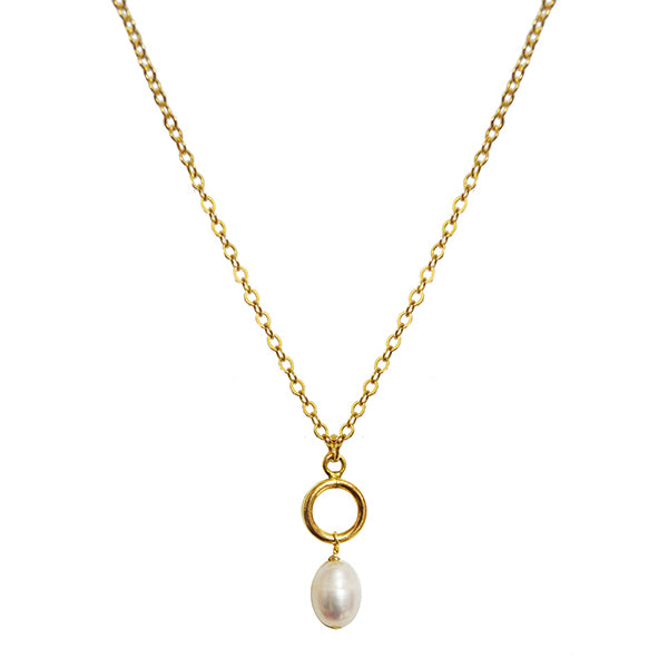 London Pearl Drop Necklace