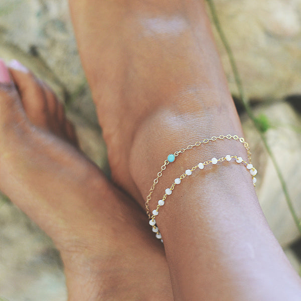 Moon and Roses Anklet