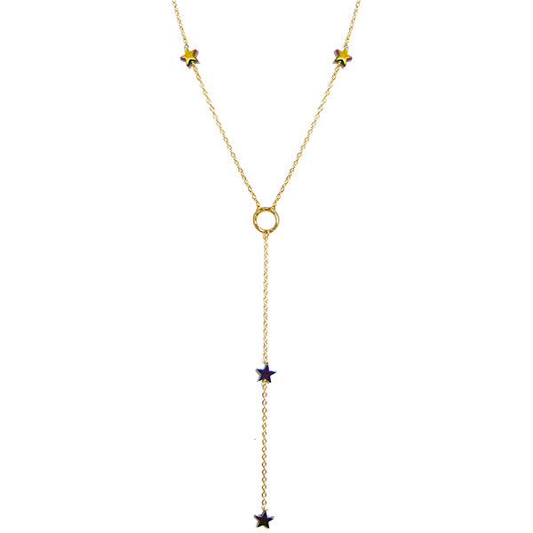 Midnight Splendor Lariat Necklace