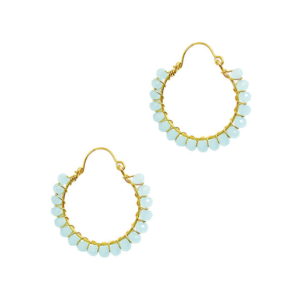 PFC Signature Hoop Earrings (Aqua)