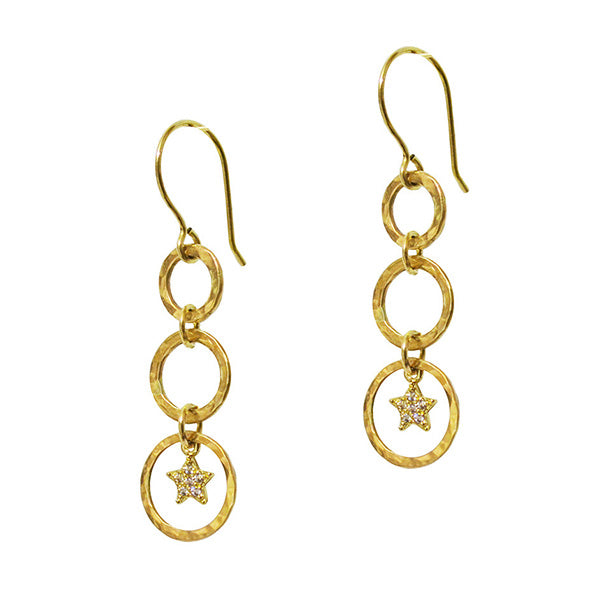 Portia Cosmos Star Earrings