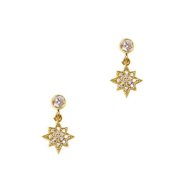 Starlet Pave Crystal Earring Studs