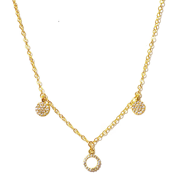Trinity Circle Pave Crystal Necklace