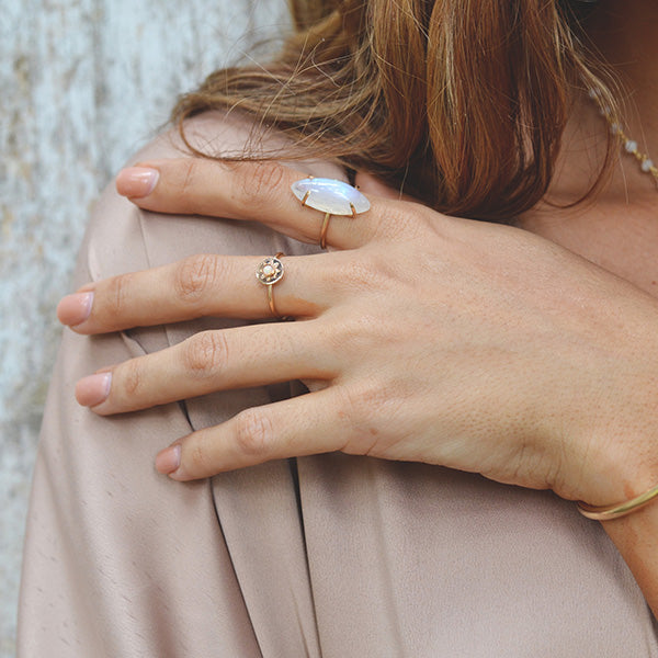 Verena Moonstone Ring