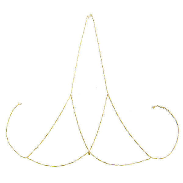 Aviva Double Horn Necklace