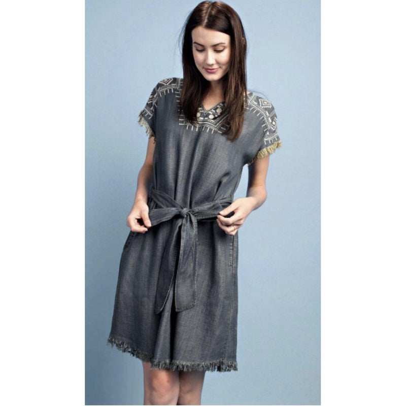 Phoenix Rising Denim Dress