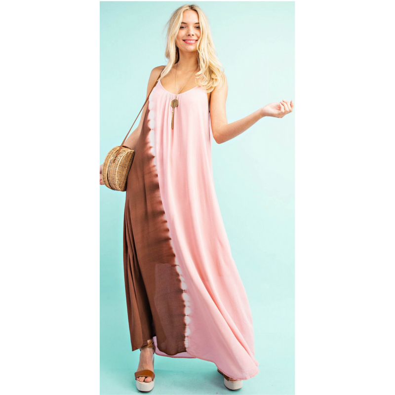 Pink Sunset Maxi Dress-Womens-Eclectic-Boutique-Clothing-for-Women-Online-Hippie-Clothes-Shop